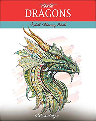 Dragon Adult Coloring Book